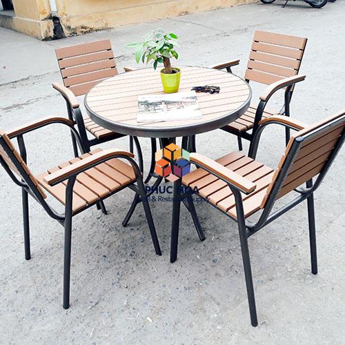 Bàn ghế cafe ngoài trời cao cấp FY-023WX