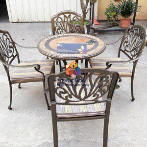 Bàn ghế nhôm đúc ngoài trời FY-071ZX