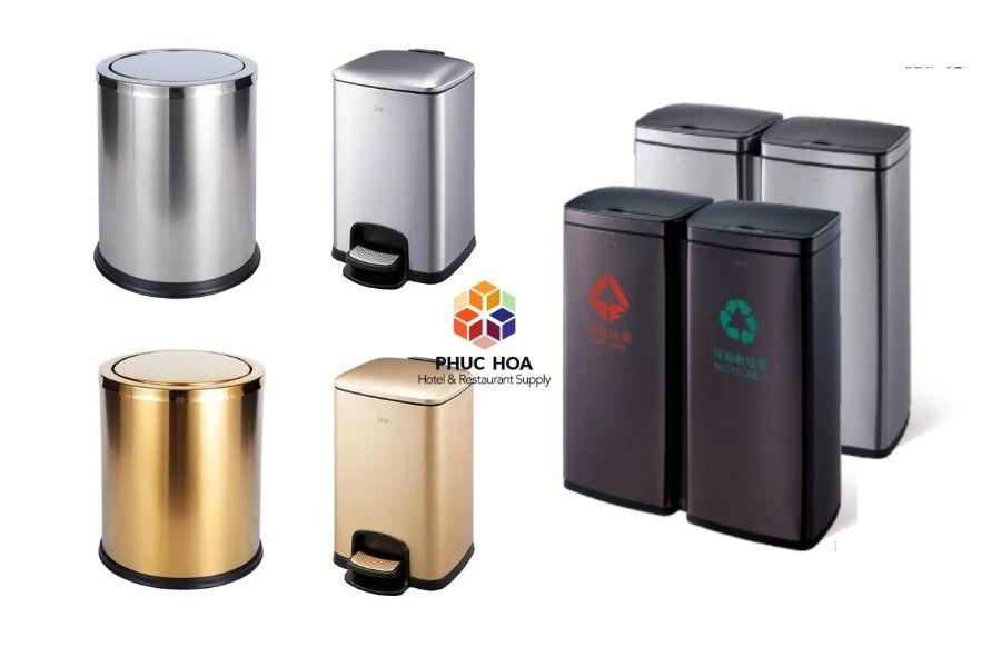 thùng rác inox cho khách sạn