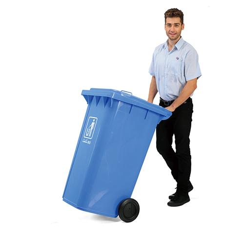 thùng rác công cộng nhựa 120L 1