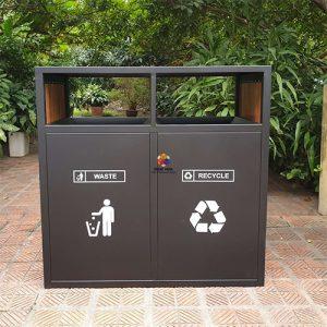 thùng rác ngoài trời 2 ngăn GPX-153E