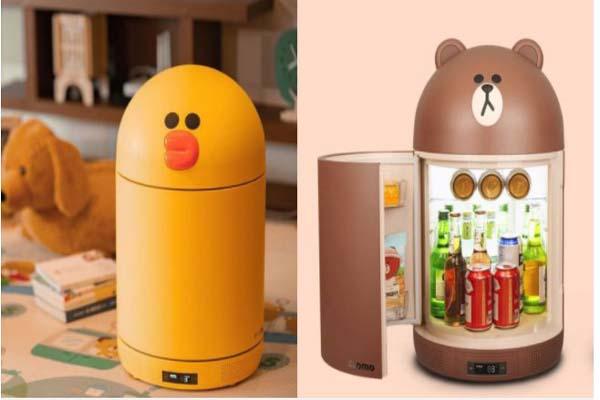 Tủ lạnh mini đựng mỹ phẩm Line Friends