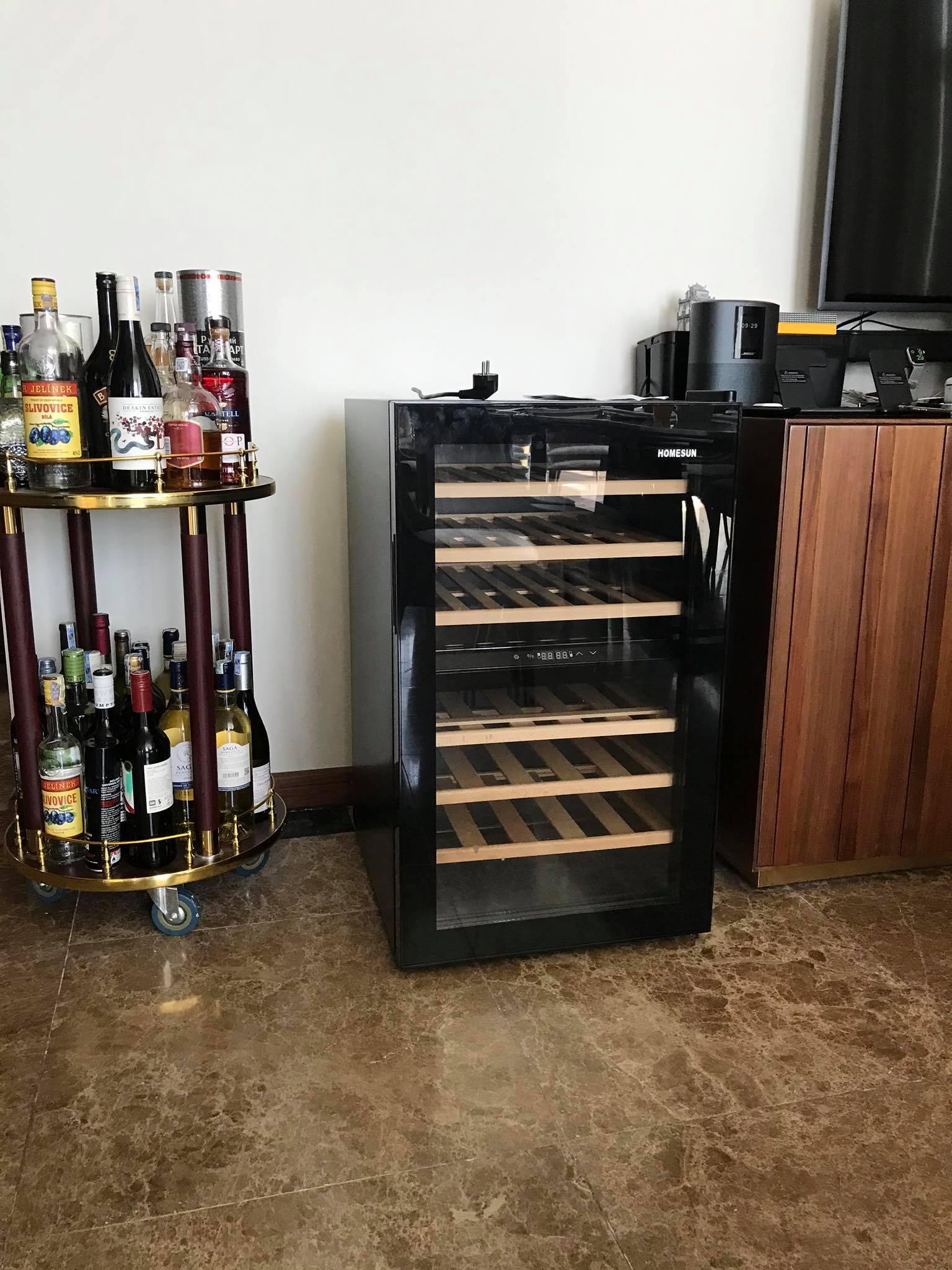 tủ bảo quản rượu vang JC-128D