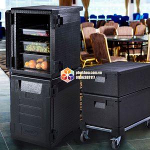 Hộp bảo ôn thực phẩm EPP dùng kèm xe đẩy là loại thiết bị bảo ôn thích hợp cho các sự kiện trong nhà lẫn ngoài trời.